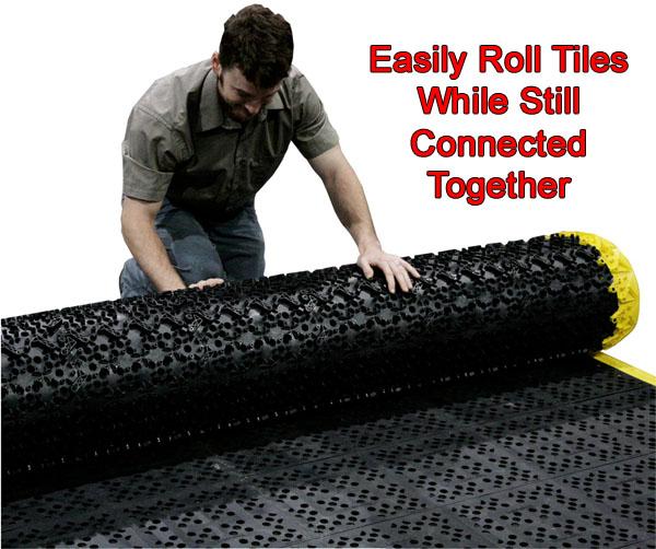 Rubber floor mats cheap - Drainage Ergonomic Interlocking Tiles American Floor Mats
