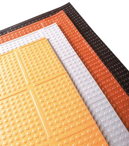 Knob top kitchen mats are rubber kitchen mats by american floor mats - Orange kitchen floor mats ...
