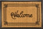Welcome Mat with Border Recycled Rubber & Coir Mats